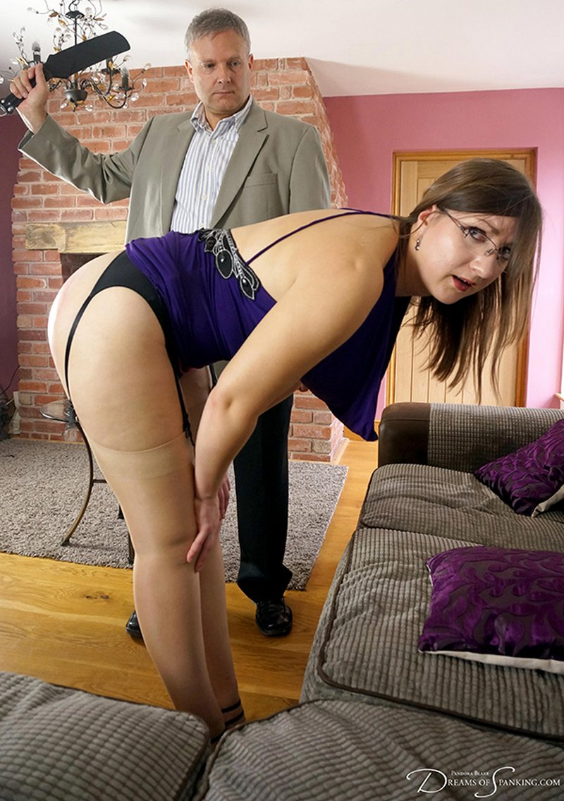 pandora blake bent over and spanked by her boss