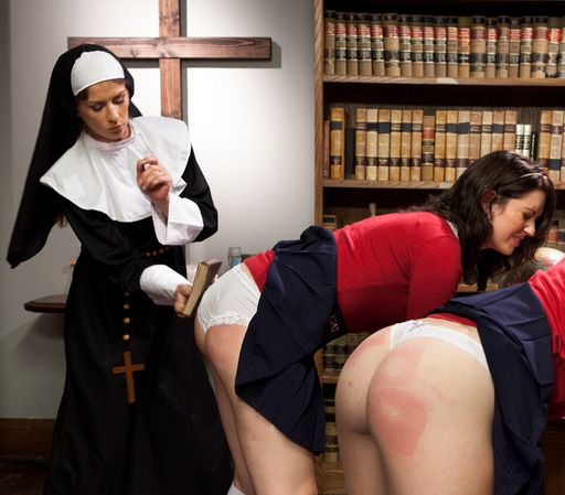 spanked with a bible by a vicious nun