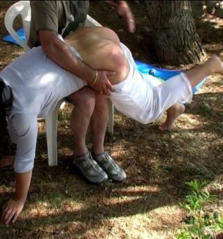 summer camp cutie gets a spanking