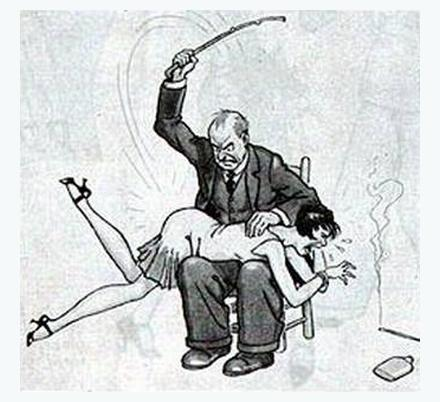 flapper gets a spanking