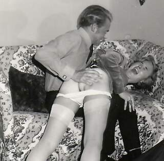 spanked with her nylons on