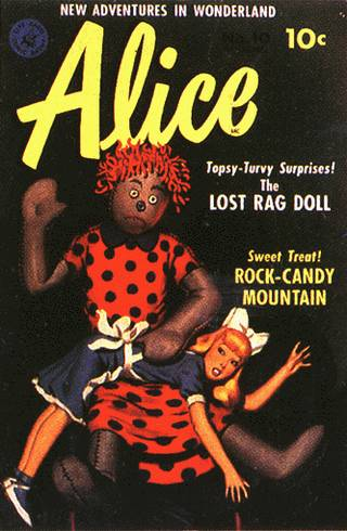 alice gets a spanking from a scary doll