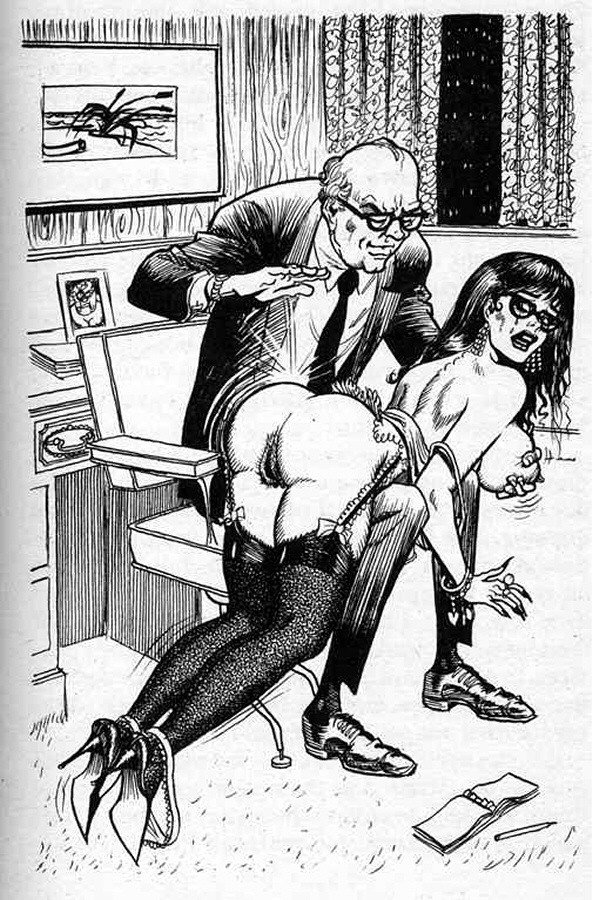 over the knee otk spanking for a note-taking secretary from her boss
