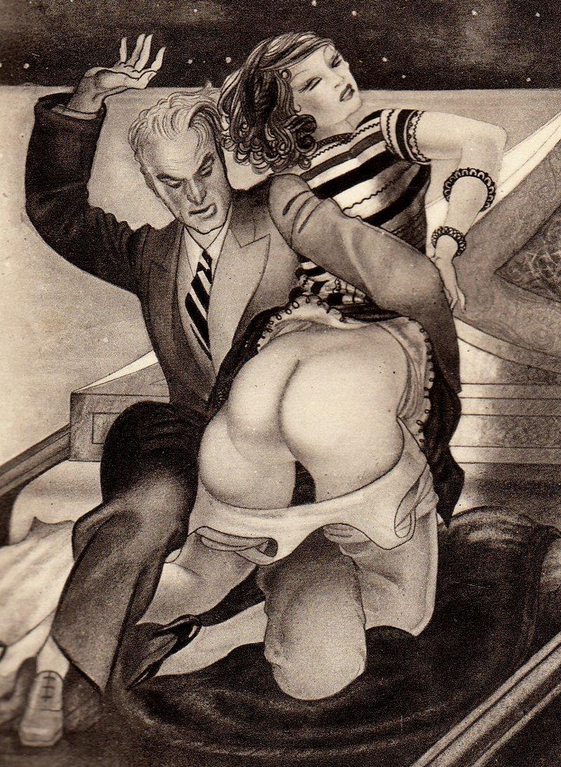 vintage public spanking art