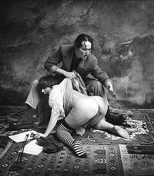 Jan Saudek spanking photo