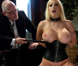 Candy Manson getting her big boobs spanked