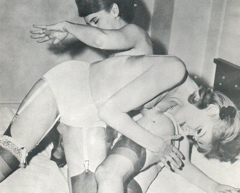 vintage lesbian spanking mutual spanking photo