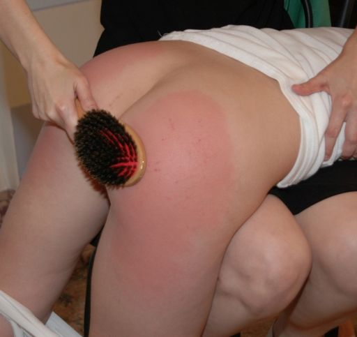 hair brush spanking for elise graves