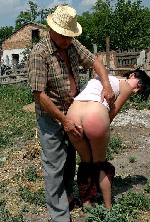 spanking farmer