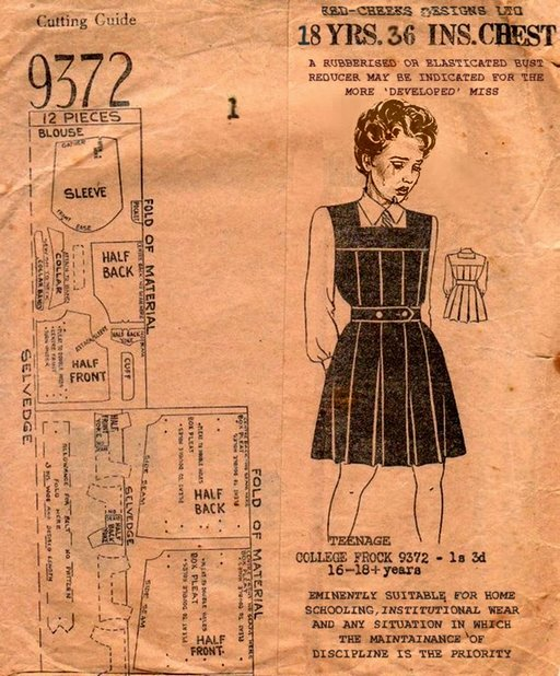 a pattern for making the teenage college frock