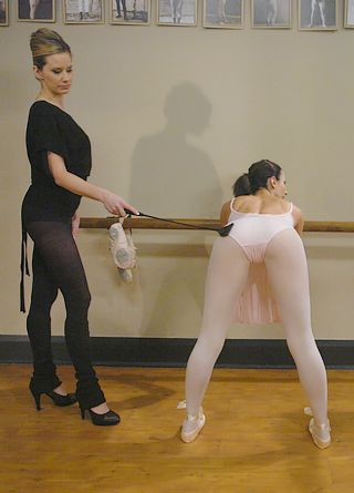 bend over for the ballet teacher\'s riding crop