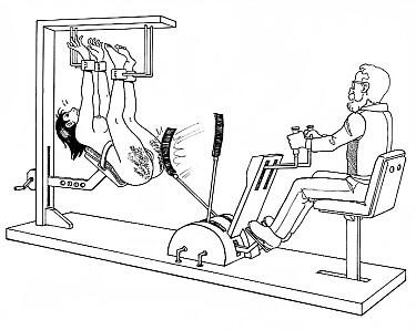 foot pedal operated spanking machine
