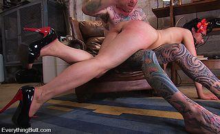 Maggie Mayhem gets an OTK spanking