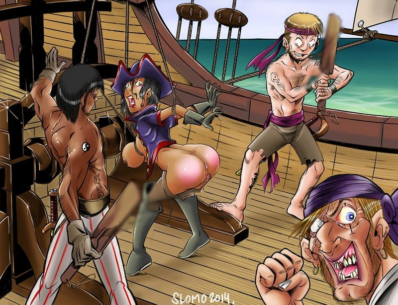 pirates spanking their female captain after mutiny