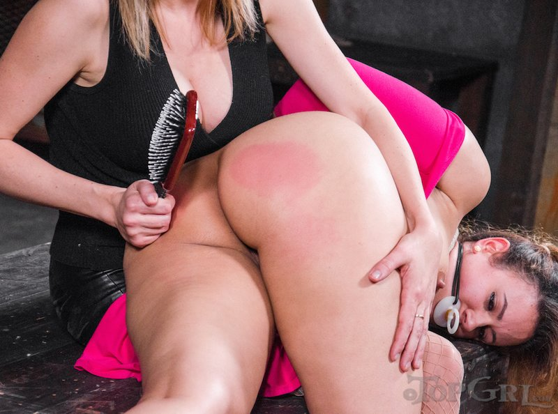 a pink spanked bottom for Penny Barber