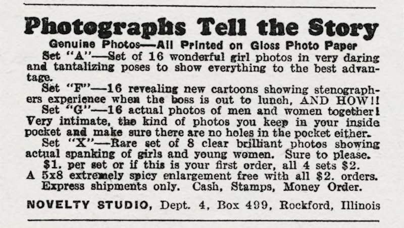 spanking porn photos ad from 1935