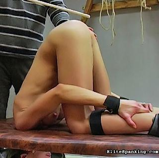 bottom up and head down for a spanking