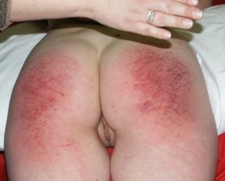 Teen Brandi spanked very sore and showing her cute pussy