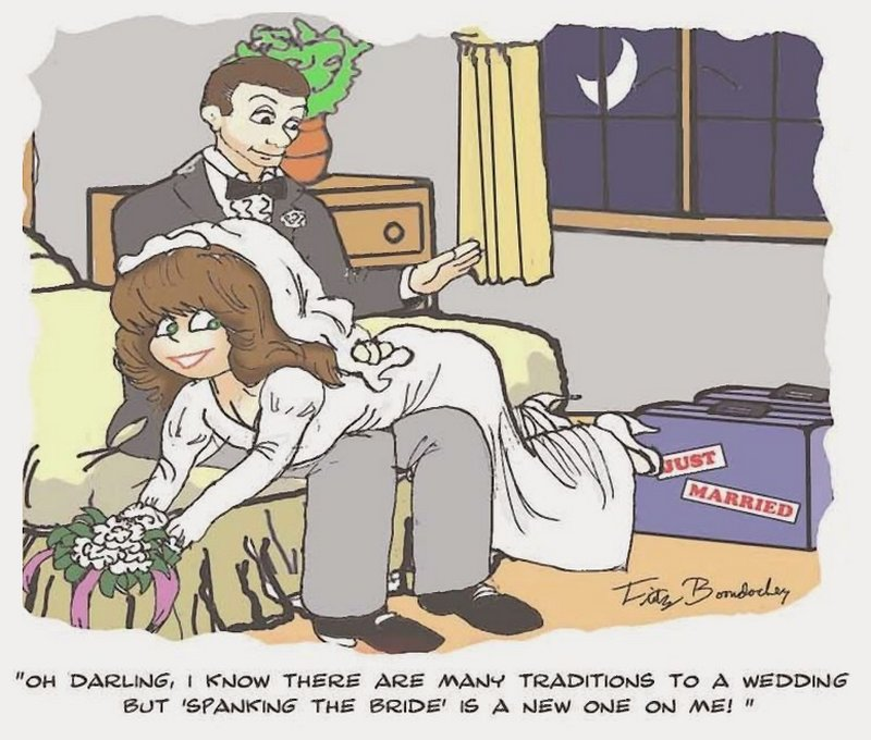 bride spanking tradition cartoon