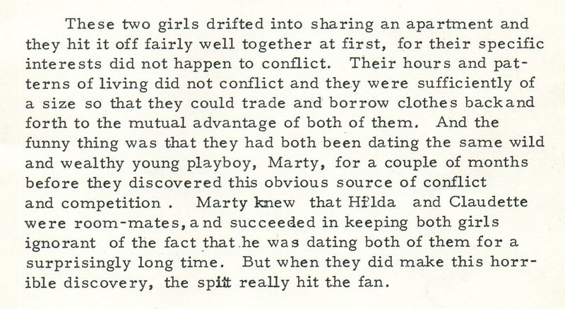 spanking war brides paragraph about two gold-digging easy women in NYC who have a boyfriend in common