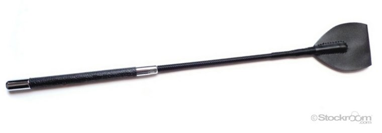 short leather riding crop from The Stockroom