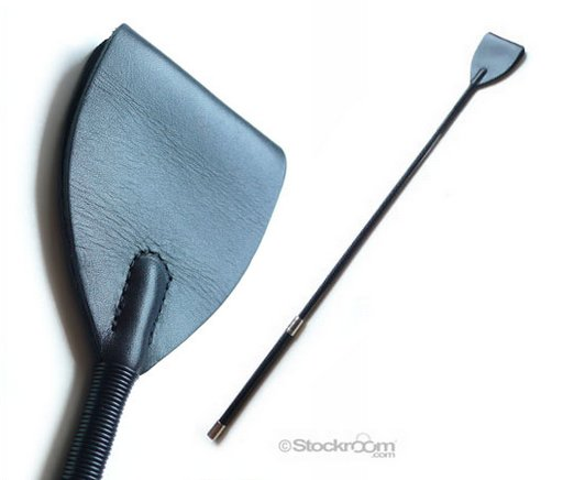 wide end leather riding crop