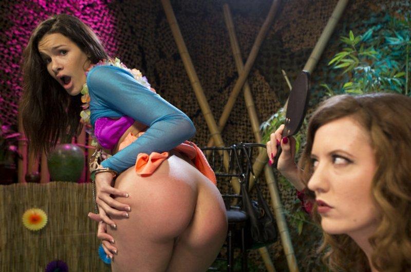 tiki bar lesbian spanking