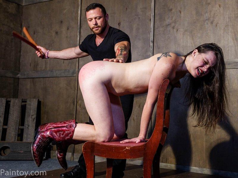 hard strap spanking
