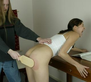 Teen Brandi paddled hard for goofing off and doing a bad job on her homework