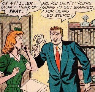a stupid spanking threat