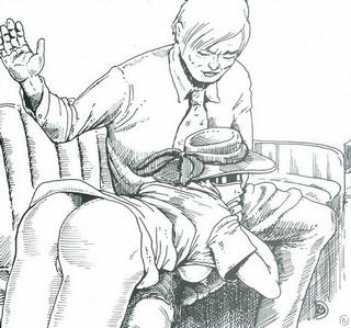 blowjob on pain of continued spanking