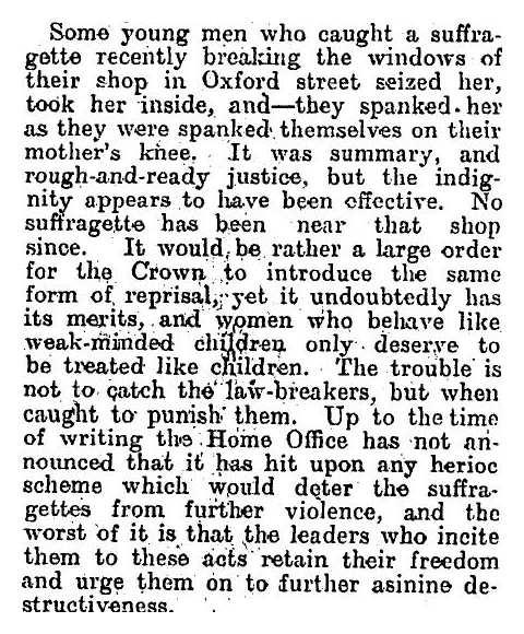 suffragette spanking
