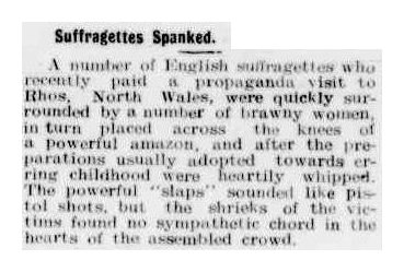 spanked suffragettes