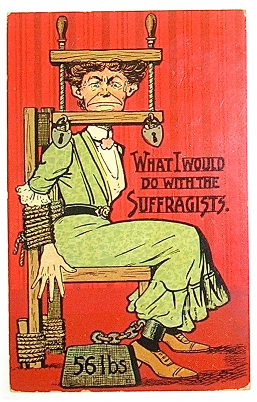 what I would do with the suffragists