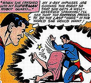 lois lane gets a spanking from superman\'s robot