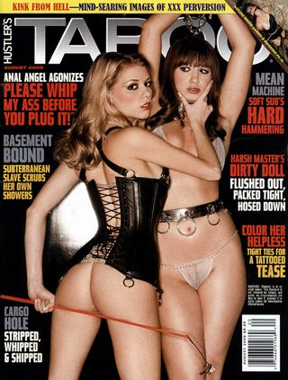 cover of the august 2009 edition of Taboo magazine from Hustler