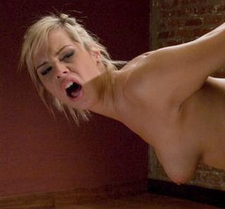 detail of Tara Lyn Fox\'s spanking face