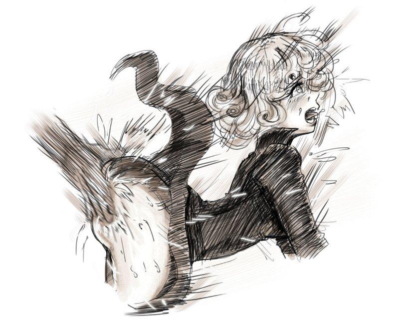 Tatsumaki spanked