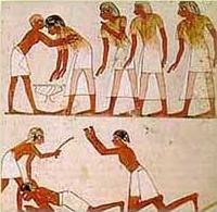 tax collectors beating a peasant