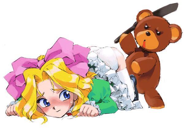 teddy bear spanking