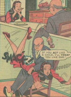 teen girl spanking comic