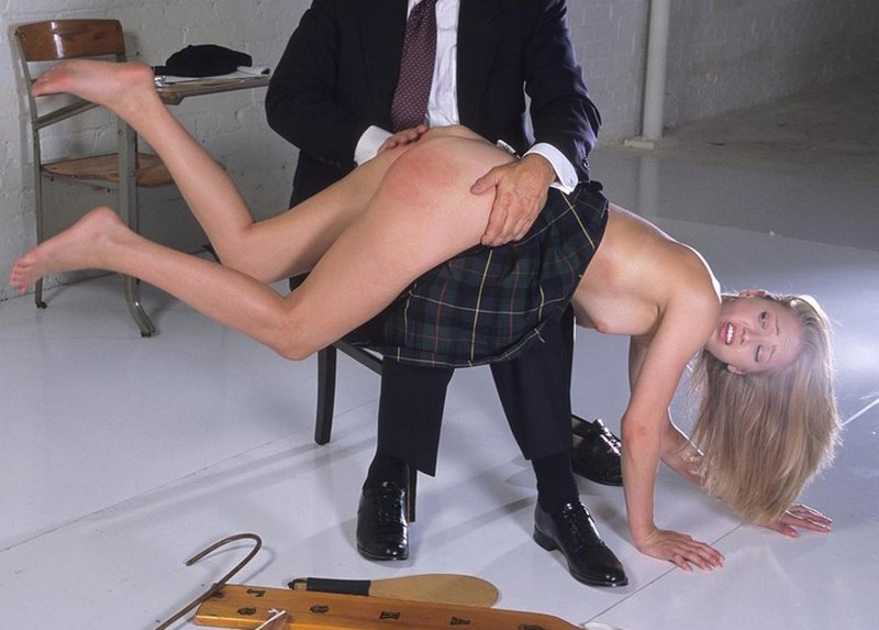 panties off for an OTK hand spanking