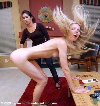 caned girl thrashing around