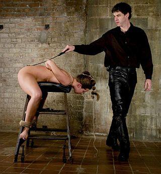 bondage on the spanking stool
