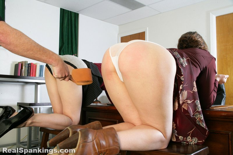 two girls punished