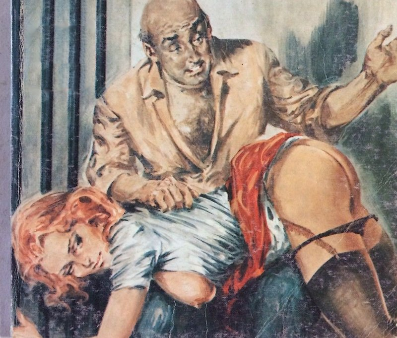 otk spanking from creepy older man with a hairy bare chest and a prison cell in his house