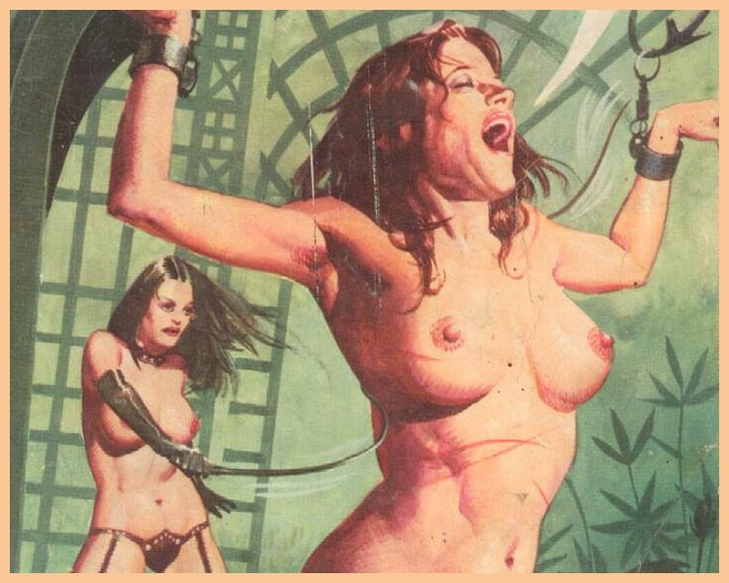 a bdsm whipping that nobody is having fun during, from a magazine parody of story of O