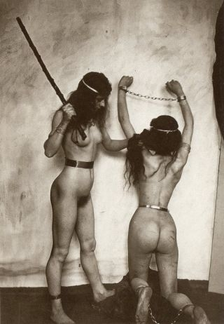 bondage stick beating