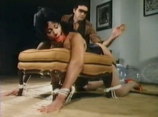 Vanessa del Rio spanked in bondage in the movie Top Secret