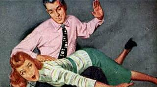 The Van Heusen man spanks his girlfriend